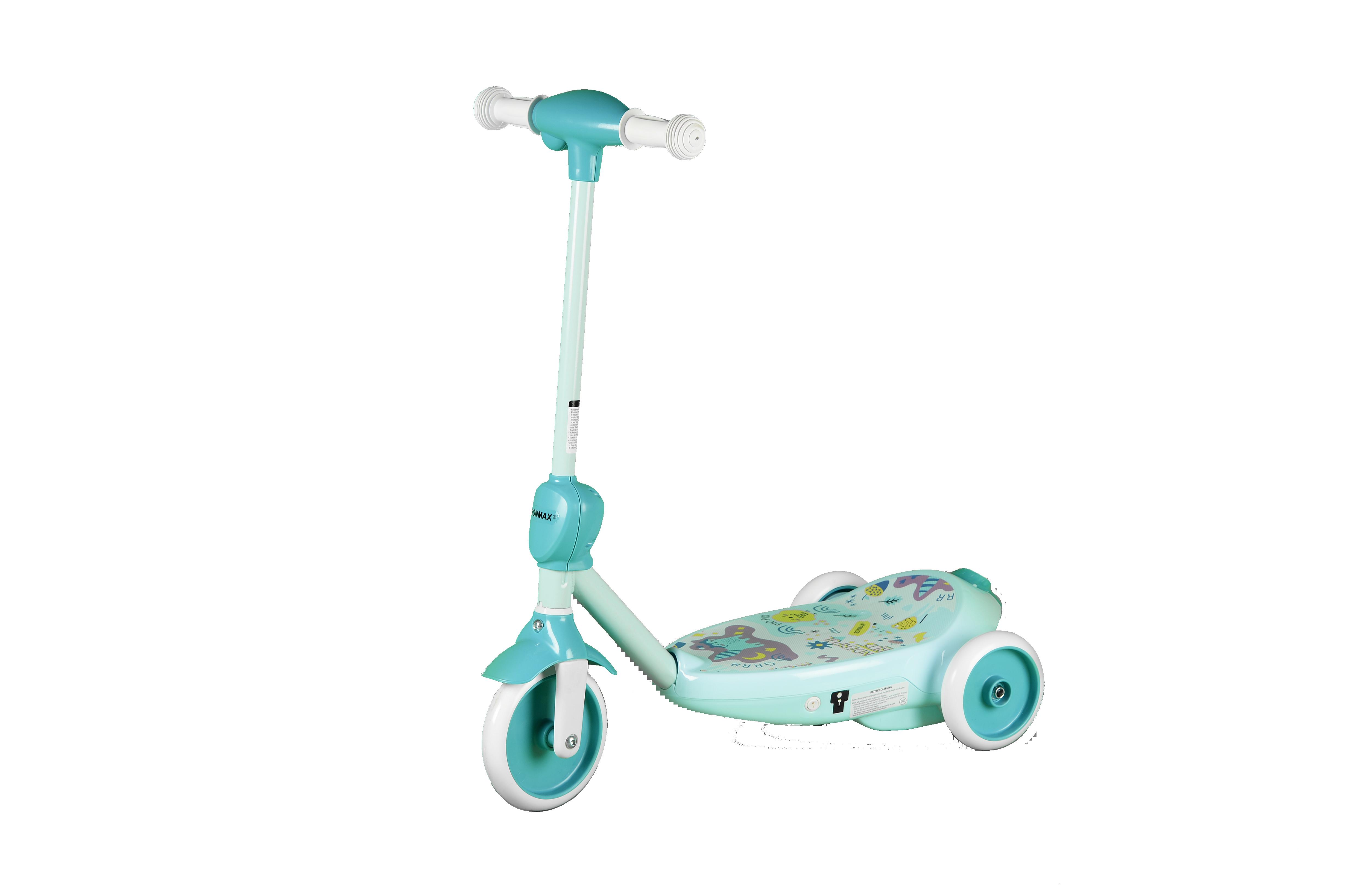 Купить Электросамокат детский SONMAX с мыльными пузырями, голубой, Самокаты детские трехколесные