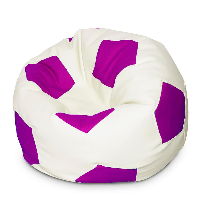 Кресло мяч Экокожа фиолетово-белый XXXL