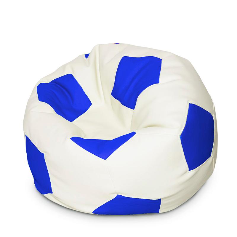Кресло мяч Экокожа сине-белый XXXL