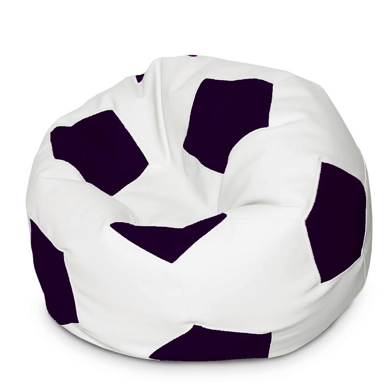 Кресло мяч Экокожа черно-белый XXXL