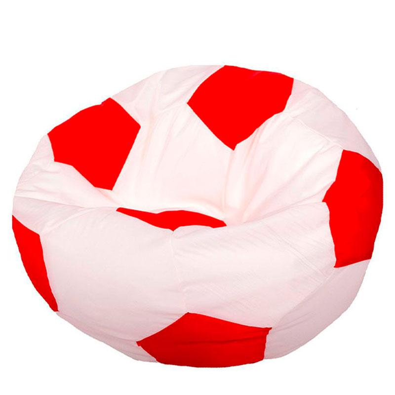 Кресло мяч Оксфорд бело-красный XXXL