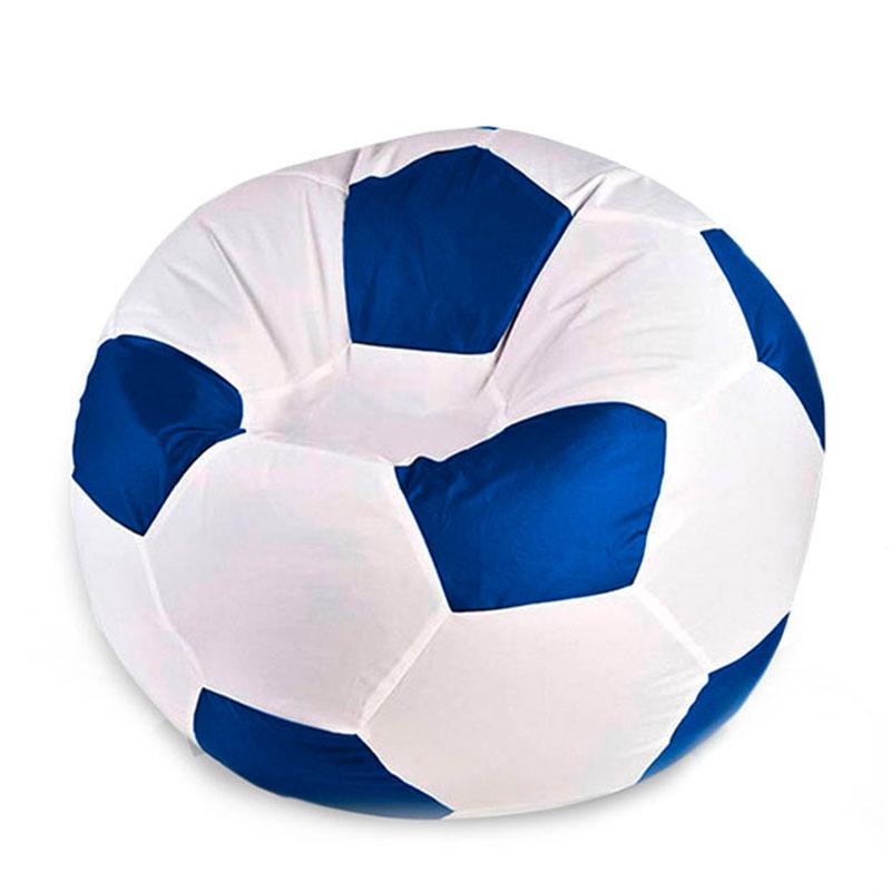 Кресло мяч Оксфорд бело-синий XXXL