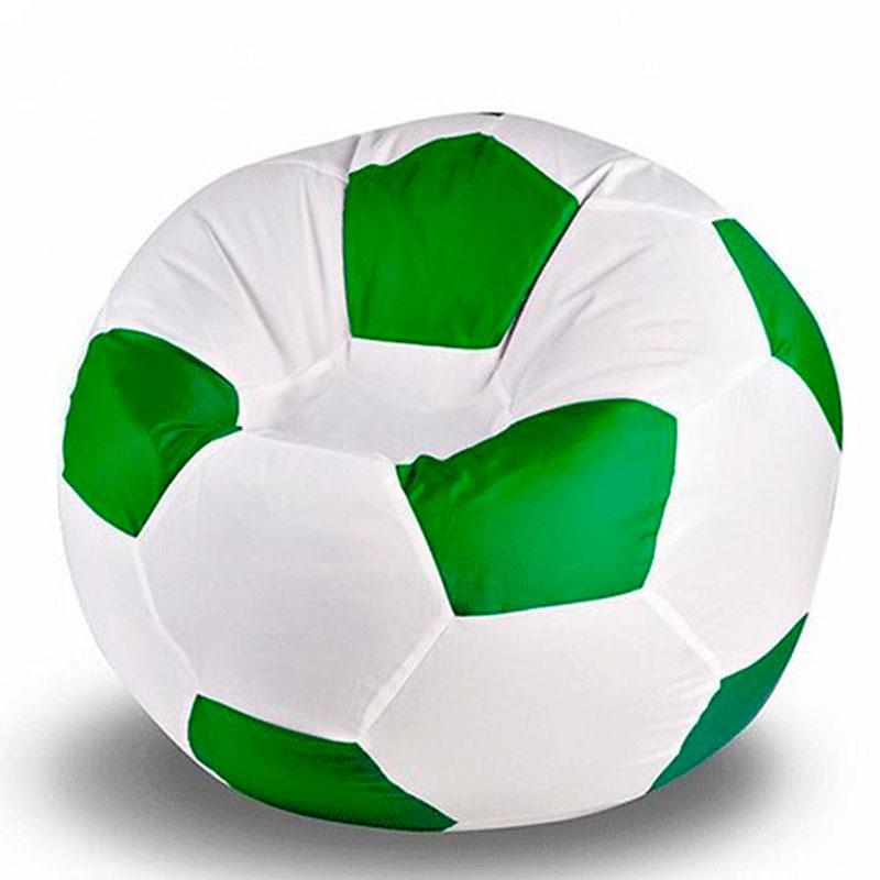 Кресло мяч Оксфорд бело-зеленый XXXL