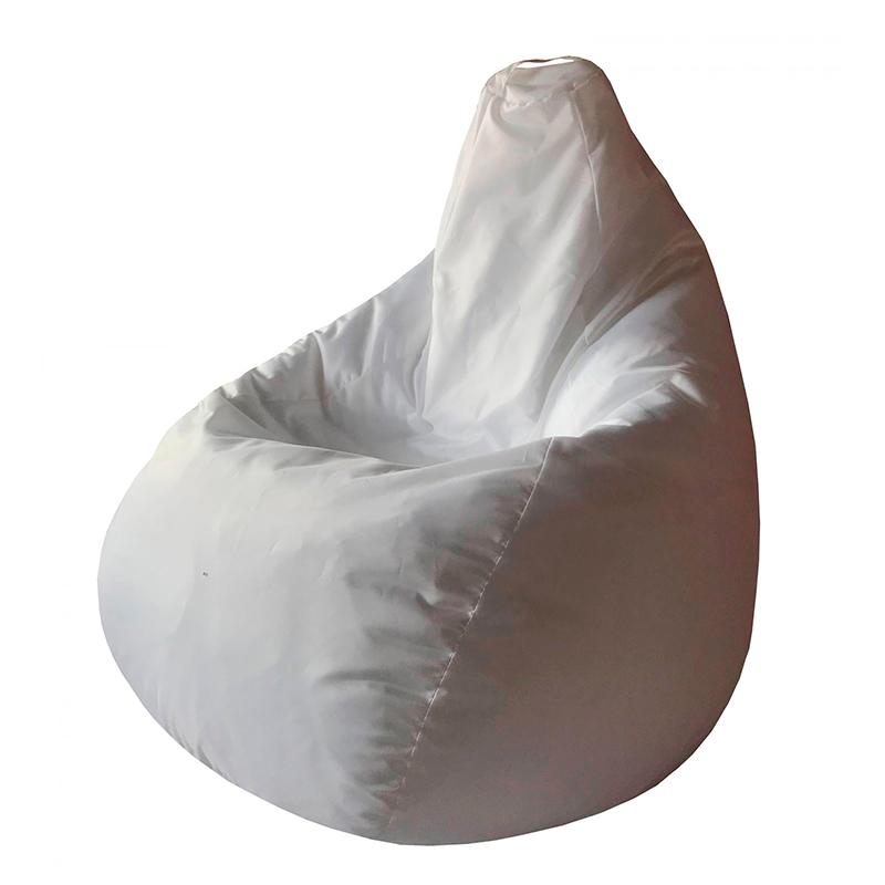 Кресло мешок белый Оксфорд L