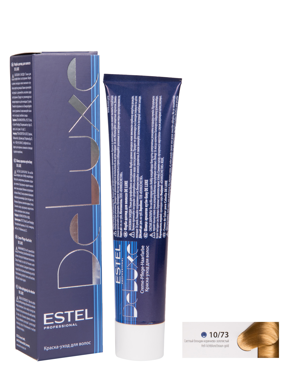 Купить Краска для волос ESTEL De Luxe 10/73 Светлый блондин коричнево-золотистый 60 мл