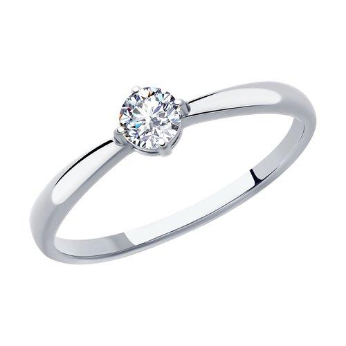 Кольцо женское SOKOLOV из серебра с фианитом 94012840 р.16.5