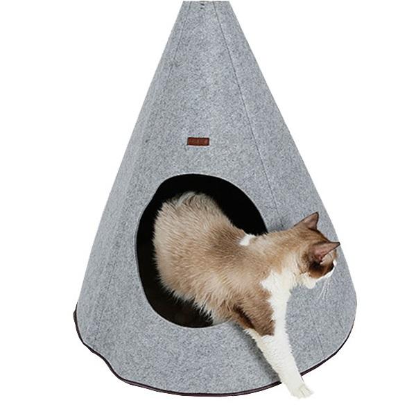 Домик для кошек и собак Doglemi Юрта, серый, 60x60x83см