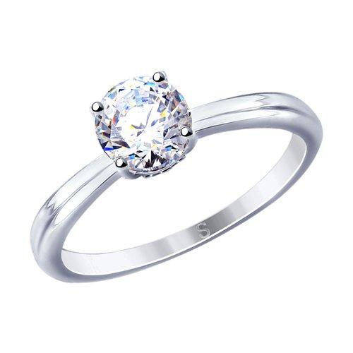 Кольцо женское SOKOLOV из серебра с фианитами 94012810 р.18.5