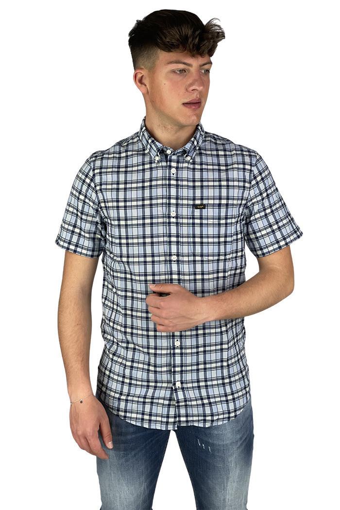 Рубашка мужская Lee L886KZLR голубая M