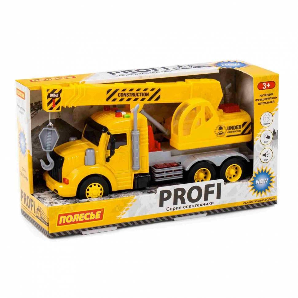 Машинка инерционная Полесье PROFI Кран желтый