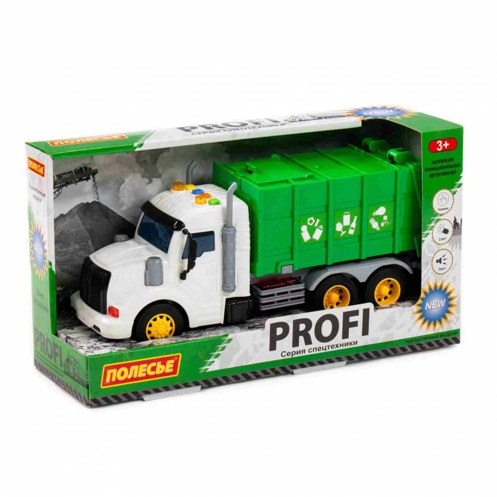 Машинка инерционная Полесье PROFI Мусоровоз зеленый