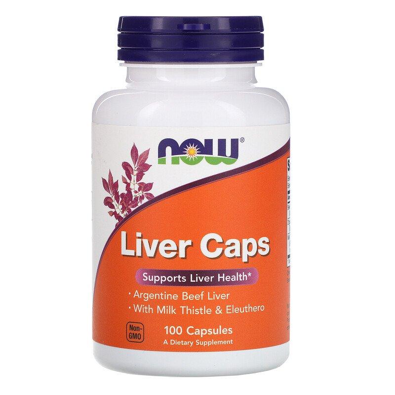 Препарат для поддержки работы печени Liver Caps NOW 100 капсул  - купить со скидкой