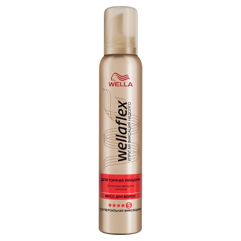 Купить Мусс для волос Wella Wellaflex супер-сильной фиксации для горячей укладки 200 мл