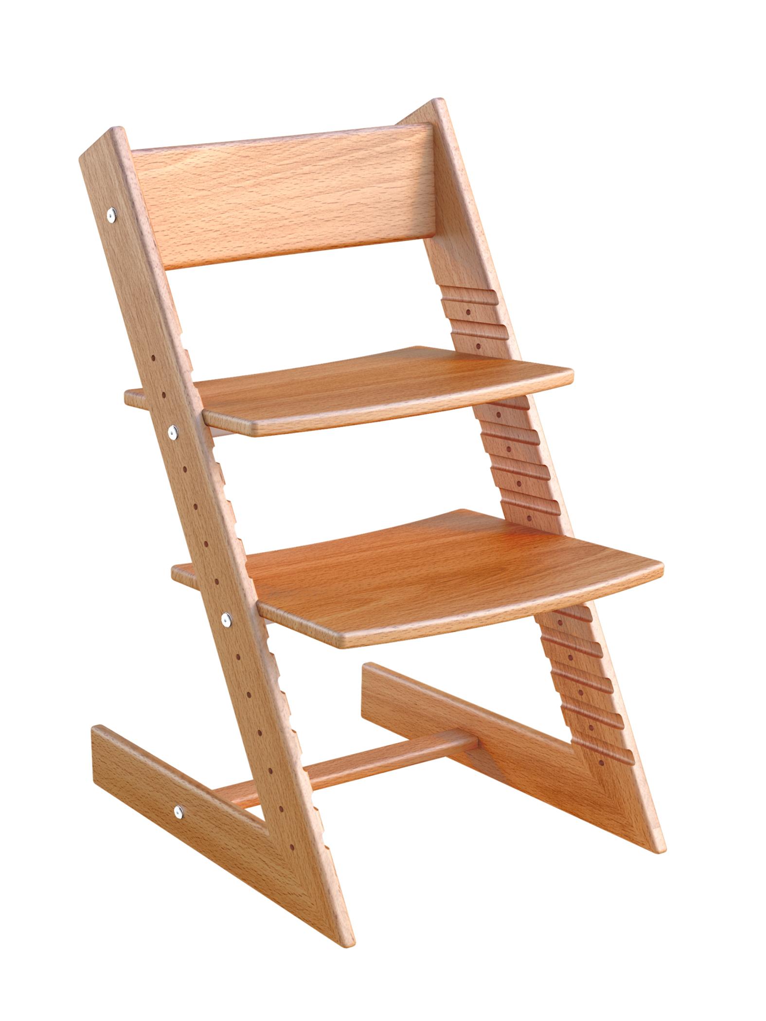 Купить Детский растущий стул из бука Конёк Горбунёк Массив бука Светлый бук, Детский растущий стул из бука Конёк Горбунёк (цвет каркаса: светлый бук), Конек Горбунек,