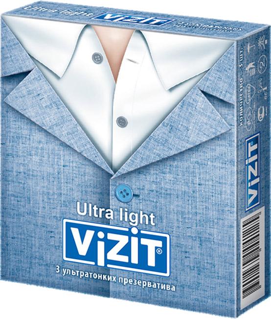Купить Презервативы Vizit Ultra light 3 шт.