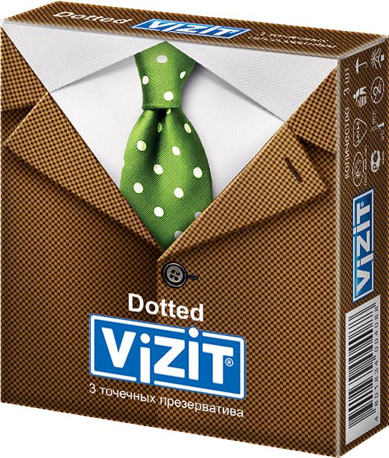 Купить Презервативы Vizit Dotted 3 шт.