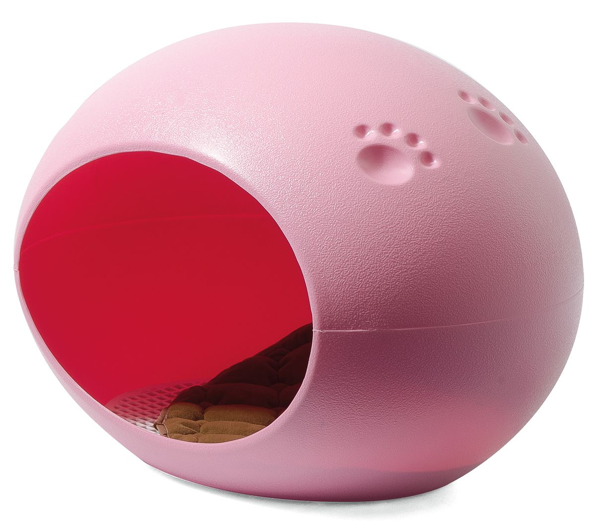 Домик для кошек PetLine Дом-яйцо, розовый, 40x60x40см фото