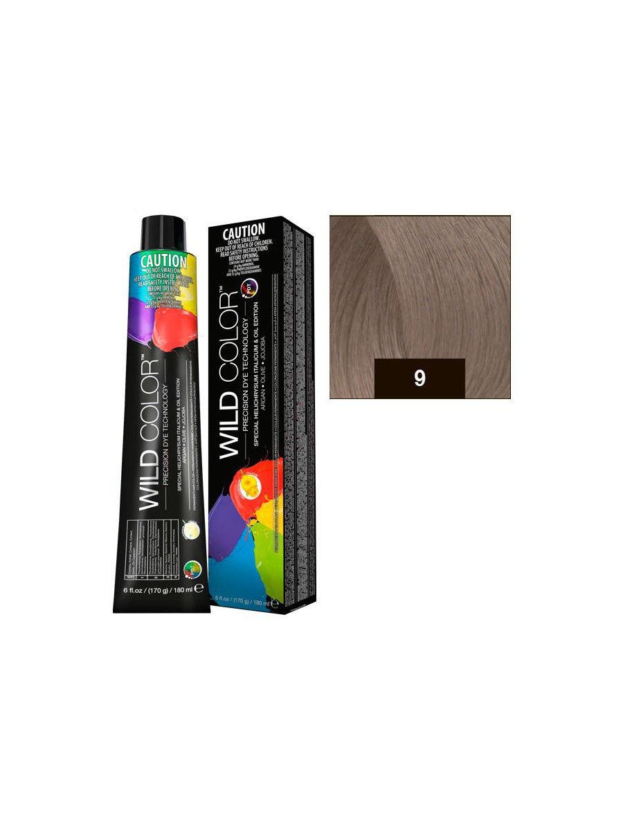 Краска для волос Wildcolor  9.1 9A Очень светлый пепельный блонд 180 мл
