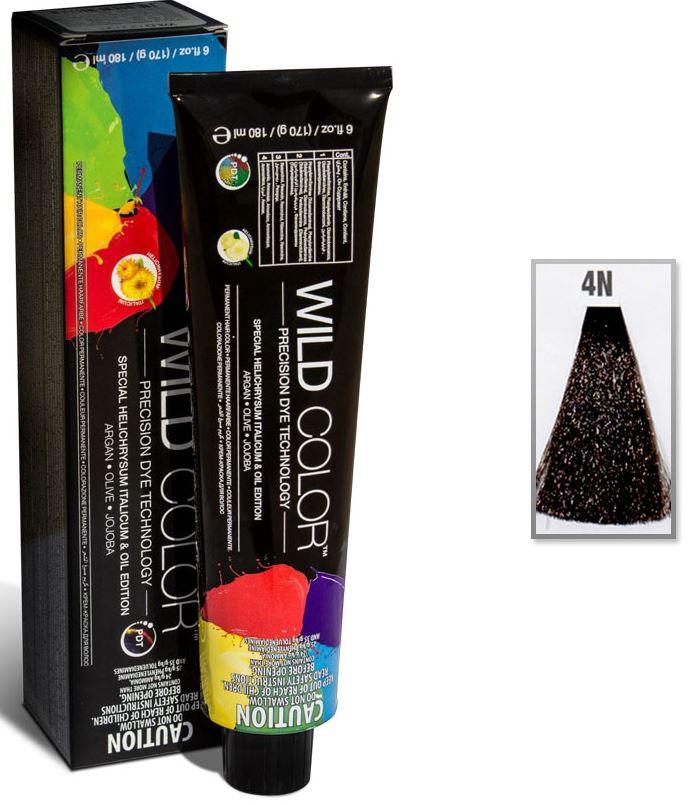 Купить Краска для волос Wildcolor без аммиака для чувствительной кожи головы 4N Коричневый 180 мл