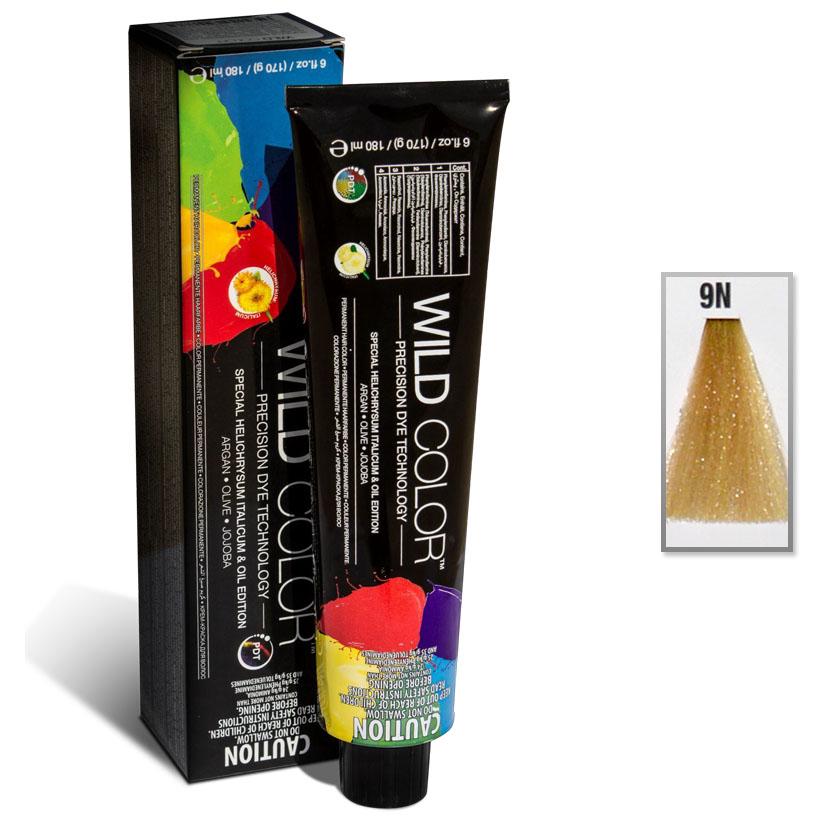 Купить Краска Wildcolor без аммиака для чувствительной кожи 9N Очень светлый блонд 180 мл