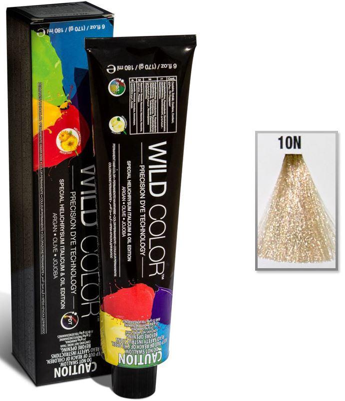 Купить Краска для волос Wildcolor без аммиака для чувствительной кожи 10N Платиновый блонд 180 мл