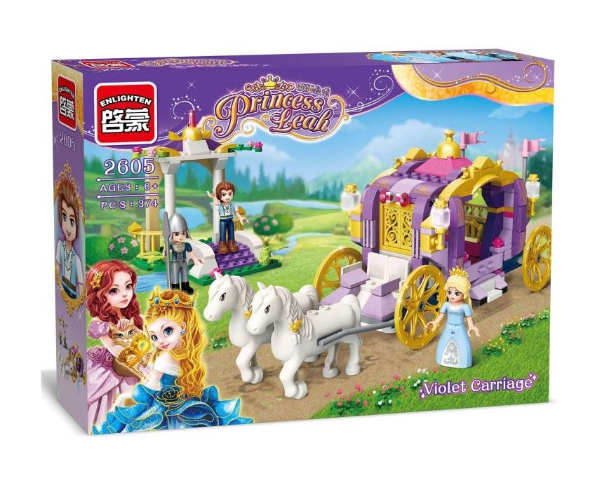 Купить Конструктор пластиковый Карета принцессы, с фигурками, 374 детали, Brick,