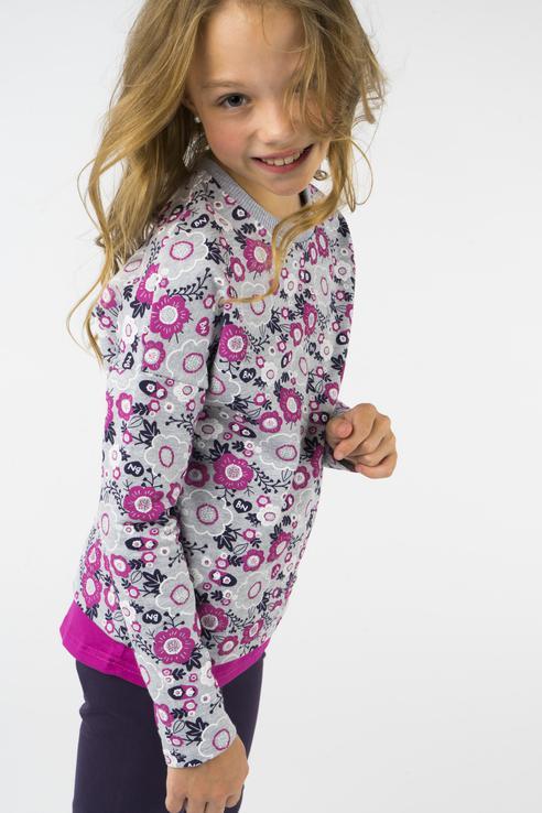 Свитшот для девочки Bossa Nova, цв.фиолетовый, р-р 104 189Б-487