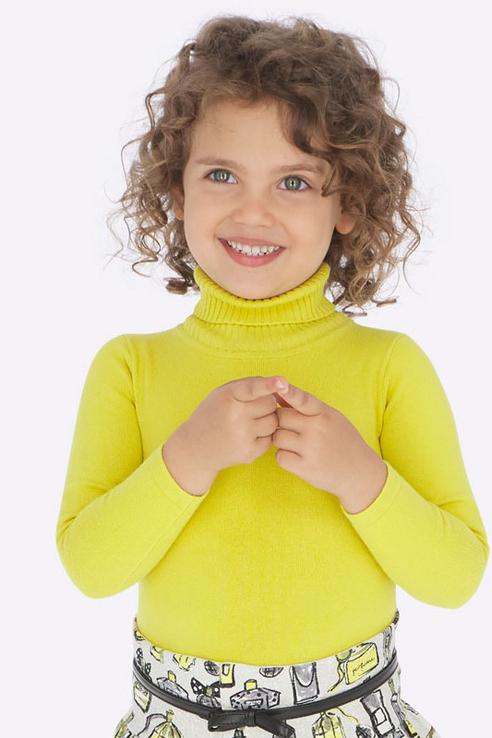 Свитер для девочки Mayoral, цв.желтый, р