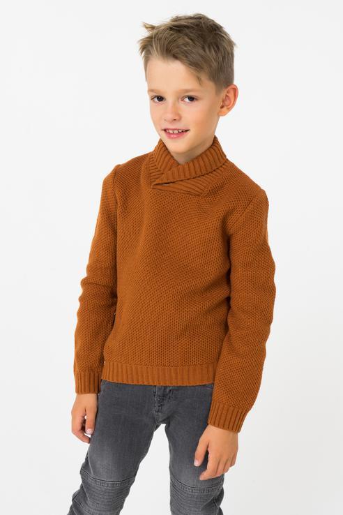 Свитер для мальчика Boboli, цв.коричневый, р