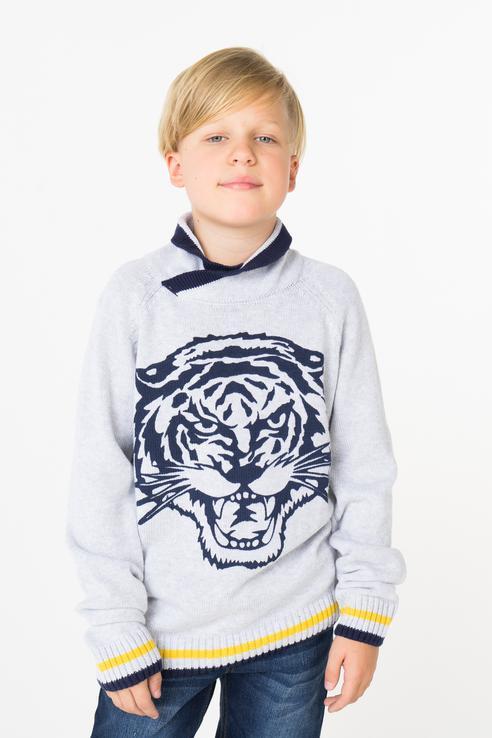 Свитер для мальчика PlayToday, цв.серый, р-р 104