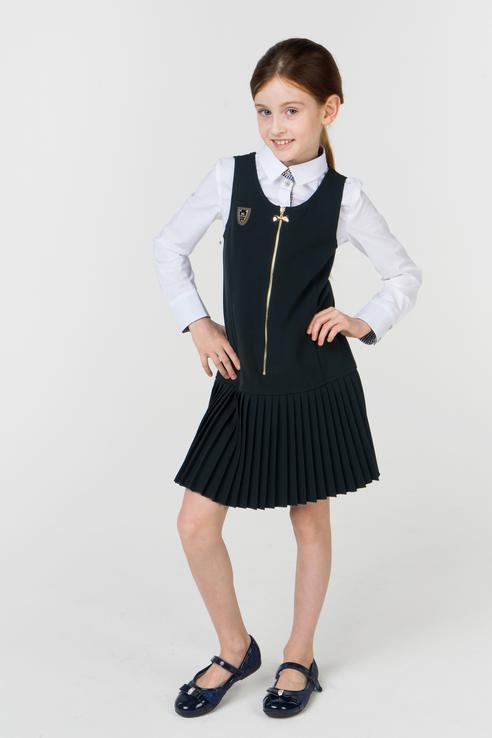 Купить 1583-517-ВВОК, Сарафан для девочки Маленькая Леди, цв.зеленый, р-р 122, Маленькая леди, Сарафаны для девочек