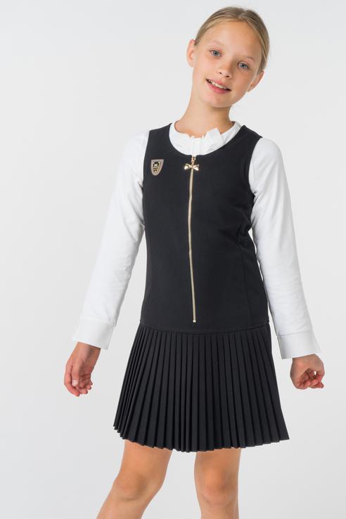 Купить 1583-518-ВВОК, Сарафан для девочки Маленькая Леди, цв.чeрный, р-р 122, Маленькая леди, Сарафаны для девочек