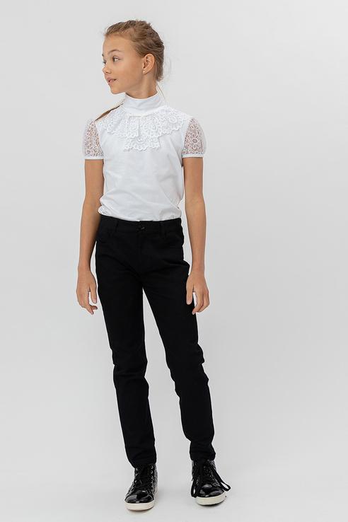 Купить 220BBGS56020800_черный, Классические брюки Button Blue 220BBGS56020800 цв.черный р.140,