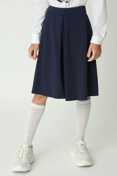 Купить 220GSGC6001_синий, Шорты-юбка Gulliver 220GSGC6001 цв.синий р.164,