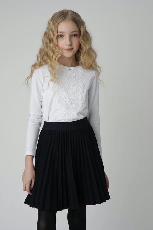 Купить 220GSGC6103_синий, Плиссированная юбка Gulliver 220GSGC6103 цв.синий р.164,