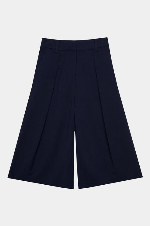 Купить 220GSGC6303_синий, Свободные брюки Gulliver 220GSGC6303 цв.синий р.128,