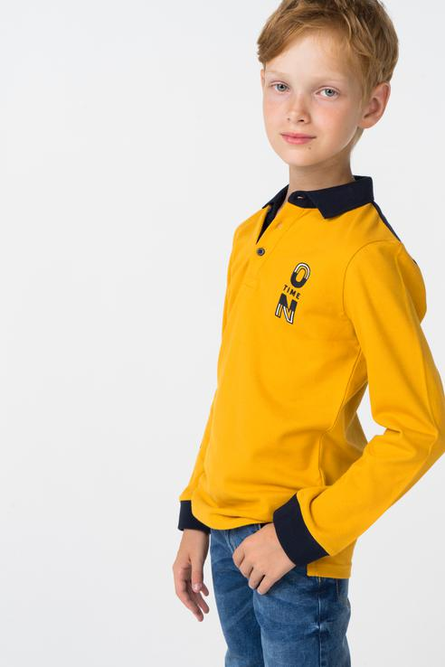 Купить 4112, Рубашка-поло для мальчика Mayoral, цв.оранжевый, р-р 134,