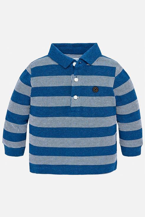 Рубашка-поло для мальчика Mayoral, цв.синий, р-р 80