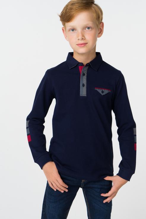 Купить 4106, Рубашка-поло для мальчика Mayoral, цв.синий, р-р 110,