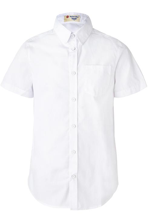 Купить 119BBBP23030200, Рубашка для мальчика Button Blue, цв.белый, р-р 104,