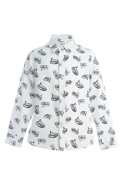 Купить 219BBBC23020213, Рубашка для мальчика Button Blue, цв.белый, р-р 104,
