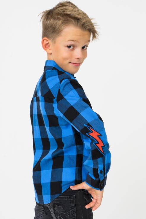 Рубашка для мальчика ZADIG & VOLTAIRE, цв.чeрный, р-р 138