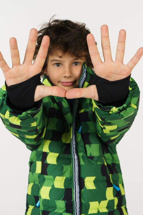 Пуховик для мальчика KUOMA, цв.зеленый, р