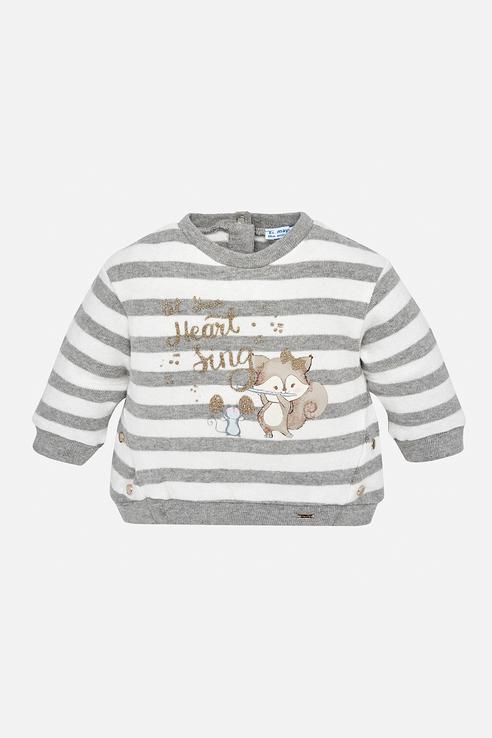 Купить 2443, Пуловер для девочки Mayoral, цв.серебряный, р-р 134,