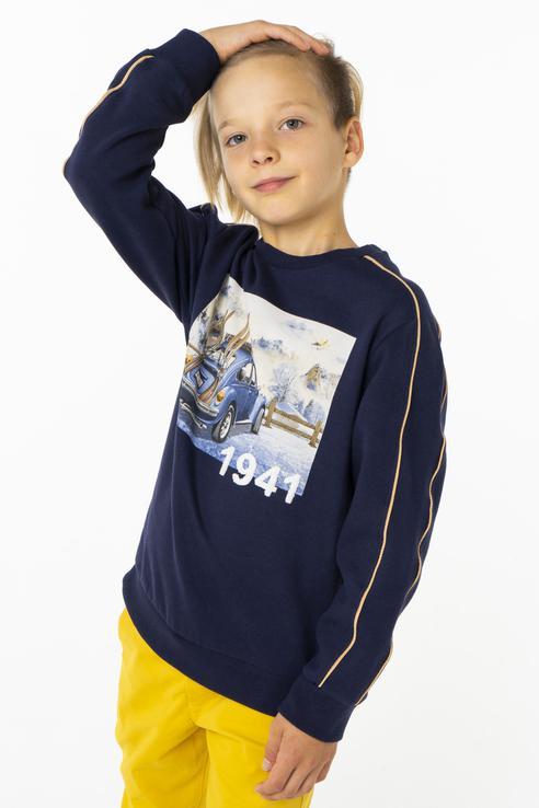 Купить 4430, Пуловер для мальчика Mayoral, цв.синий, р-р 98,