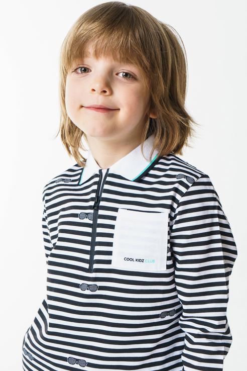 Поло для мальчика Sarabanda, цв.белый, р-р 92