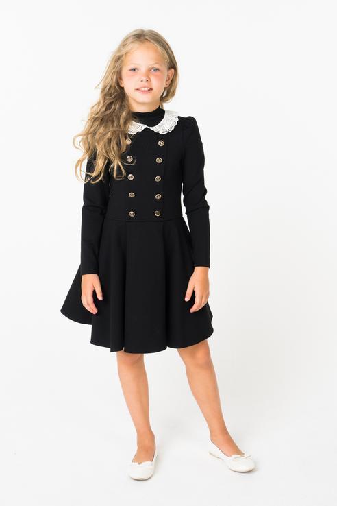 Платье для девочки Маленькая Леди, цв.чeрный, р-р 122