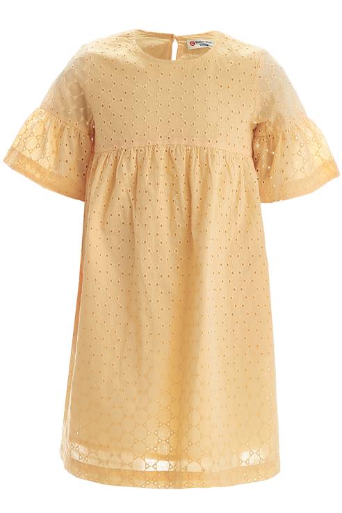 Купить 119BBGC25032714, Платье для девочки Button Blue, цв.желтый, р-р 128,