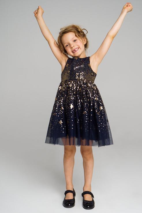 Платье для девочки PlayToday, цв.синий, р-р 110 Play Today 492022