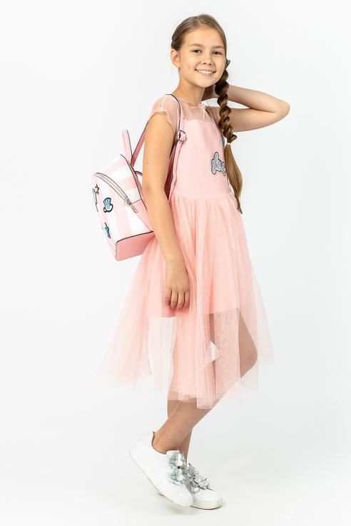 Купить 119GPGJC2901, Платье для девочки Gulliver, цв.розовый, р-р 134,